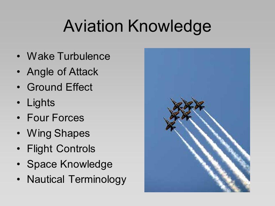 Aviation Knowledge Wake Turbulence Angle of Attack Ground Effect
