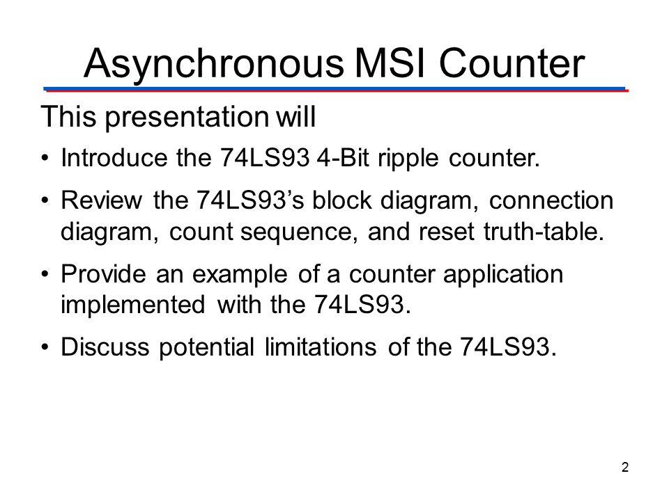 Asynchronous MSI Counter