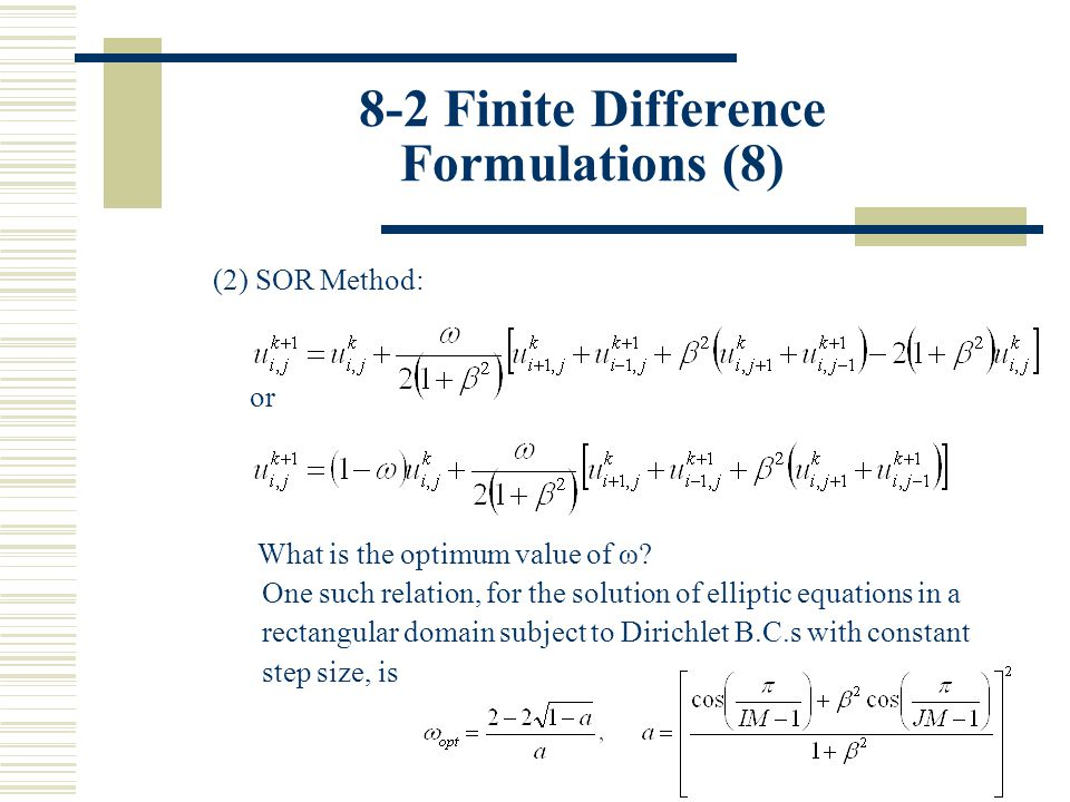 8-2 Finite Difference Formulations (8)