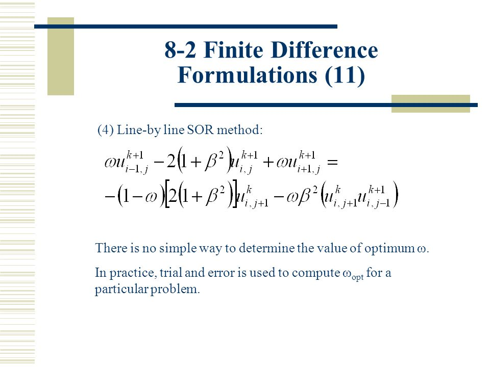 8-2 Finite Difference Formulations (11)