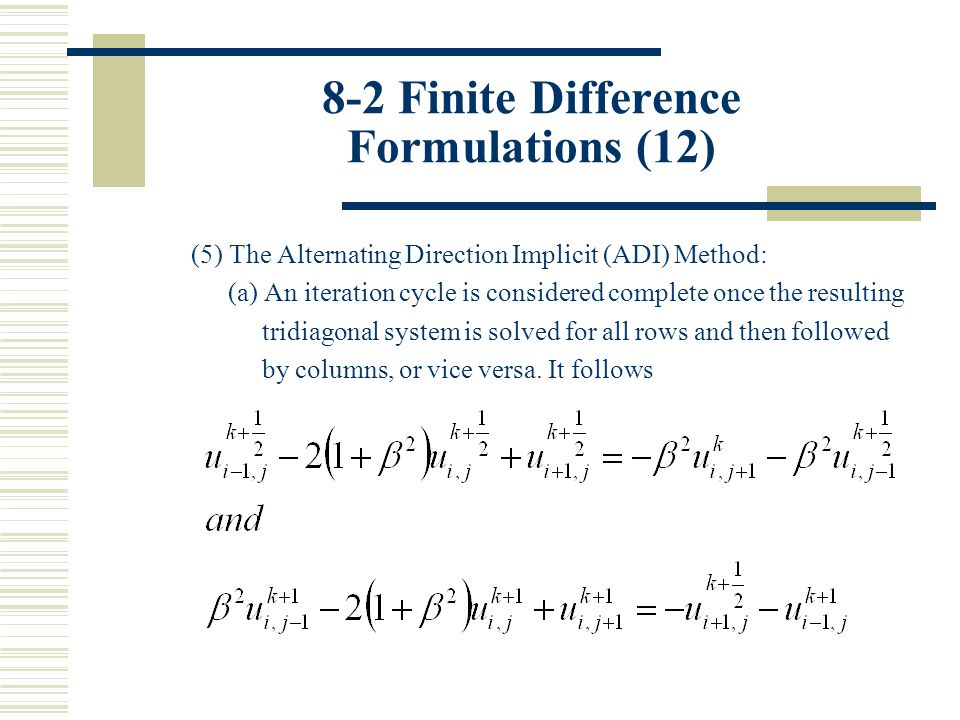 8-2 Finite Difference Formulations (12)