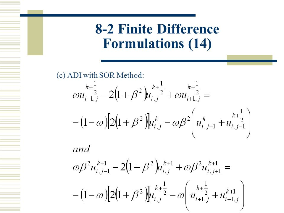 8-2 Finite Difference Formulations (14)