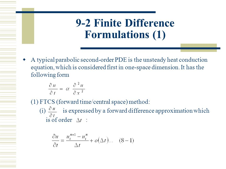 9-2 Finite Difference Formulations (1)