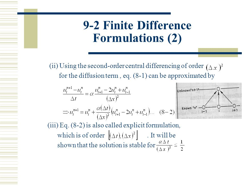 9-2 Finite Difference Formulations (2)