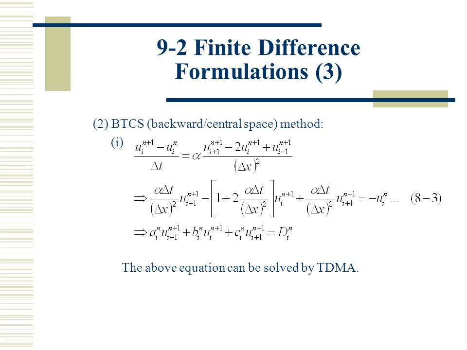 9-2 Finite Difference Formulations (3)