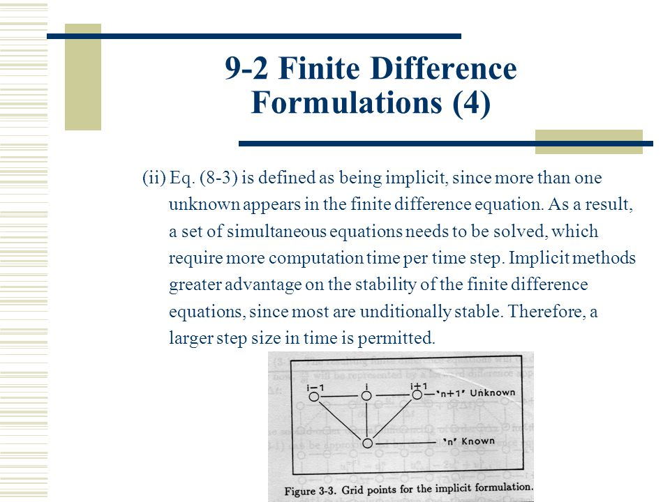 9-2 Finite Difference Formulations (4)