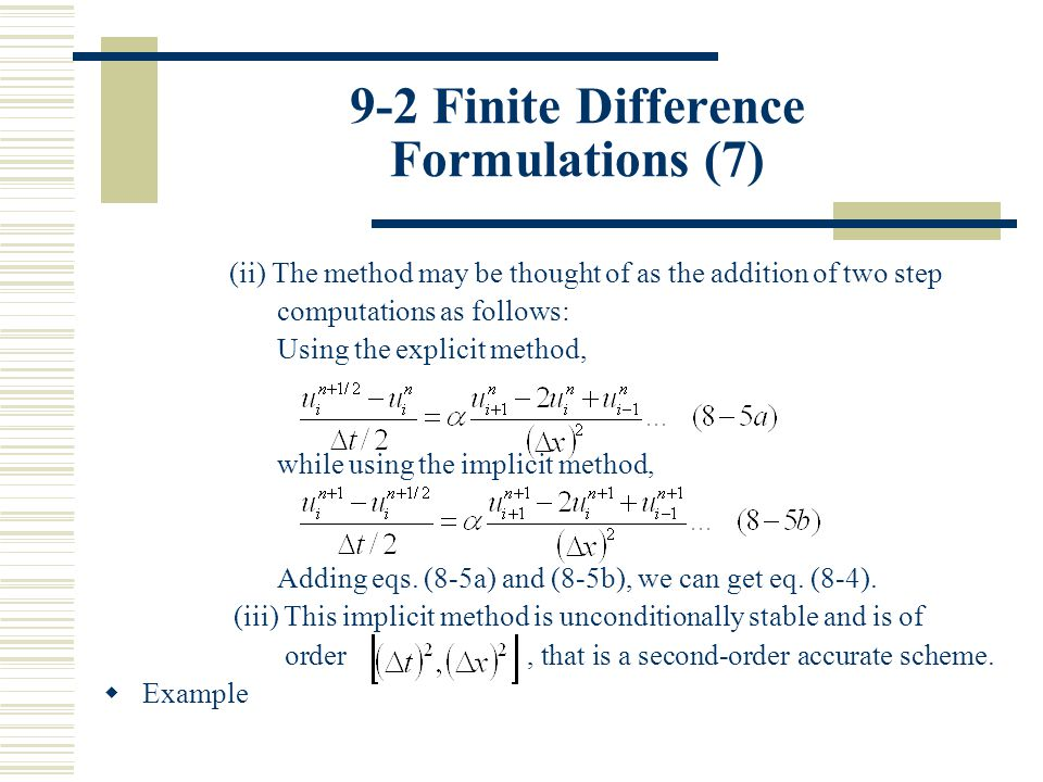 9-2 Finite Difference Formulations (7)