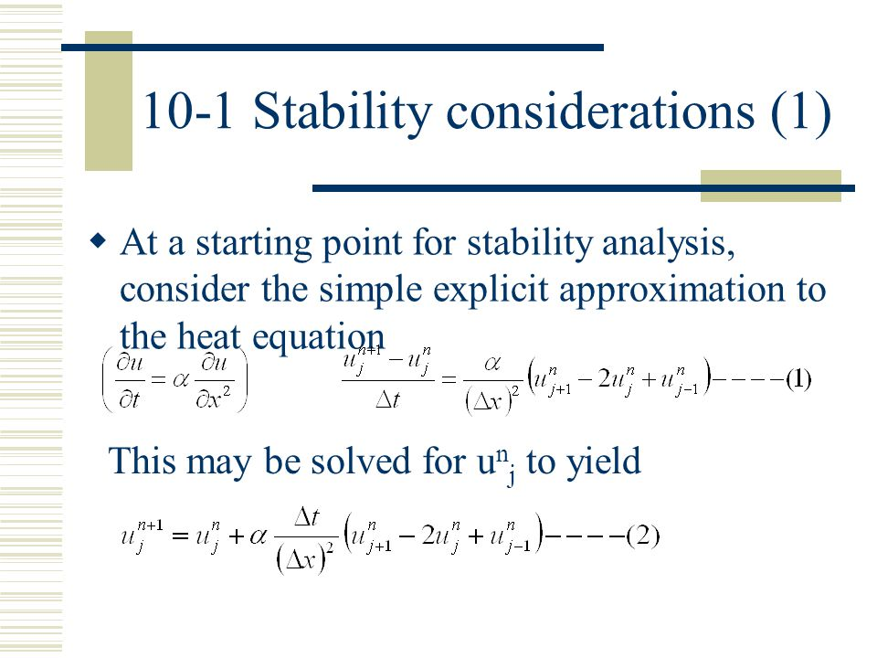 10-1 Stability considerations (1)
