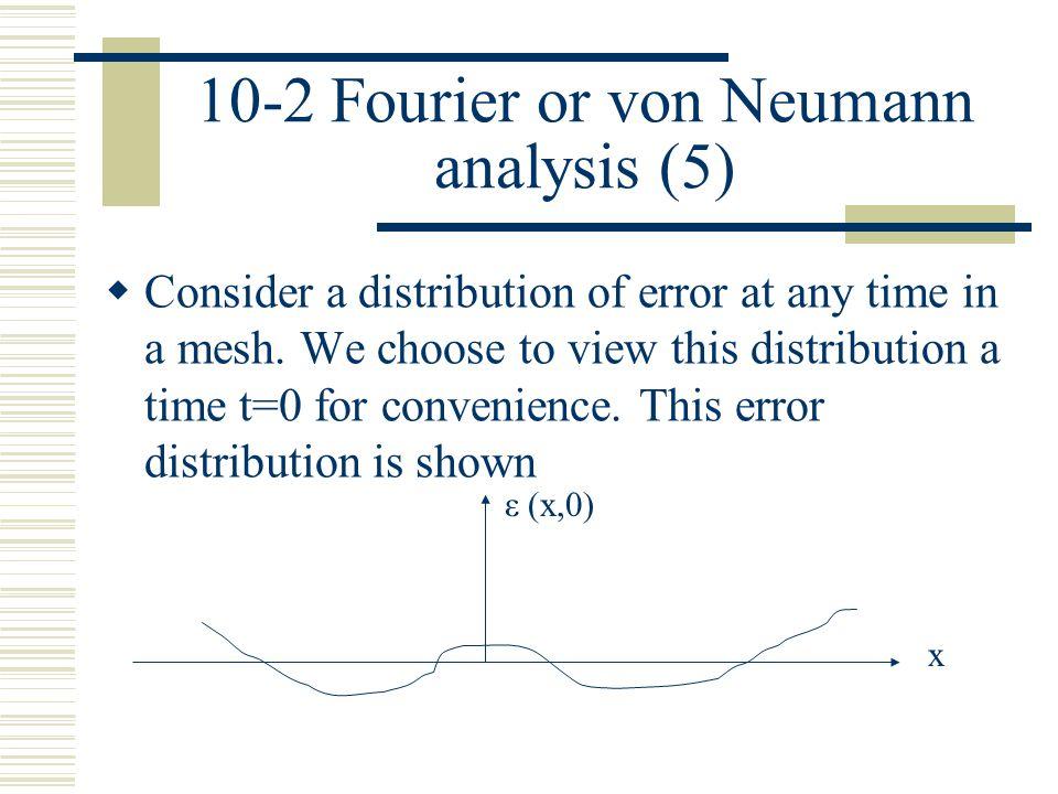 10-2 Fourier or von Neumann analysis (5)