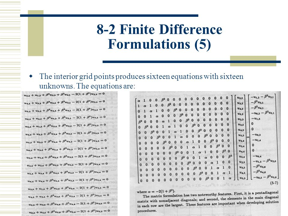 8-2 Finite Difference Formulations (5)