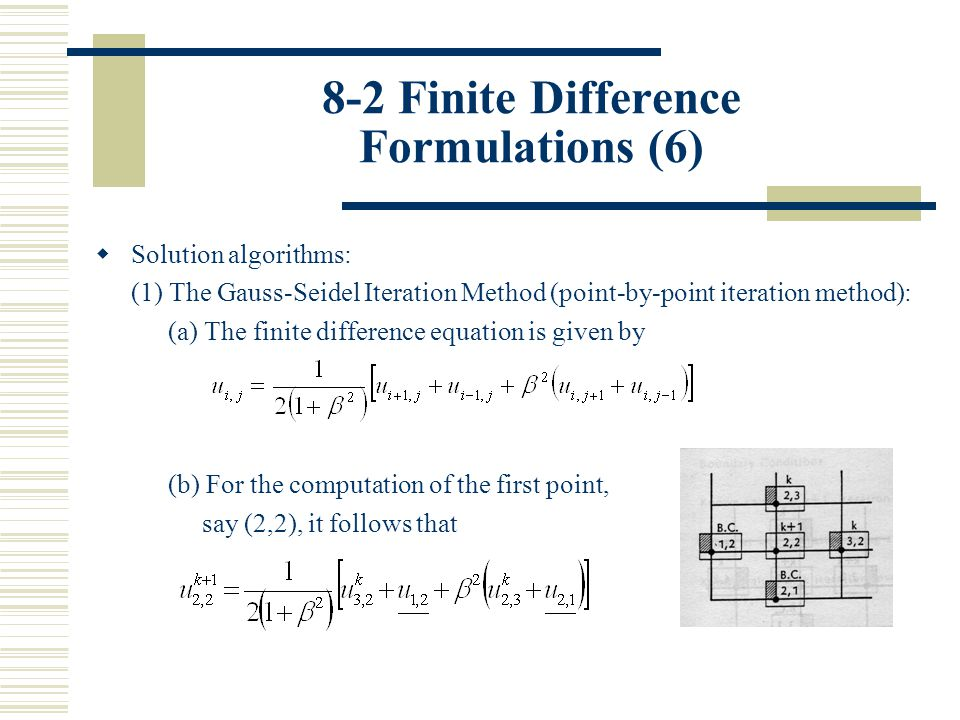 8-2 Finite Difference Formulations (6)