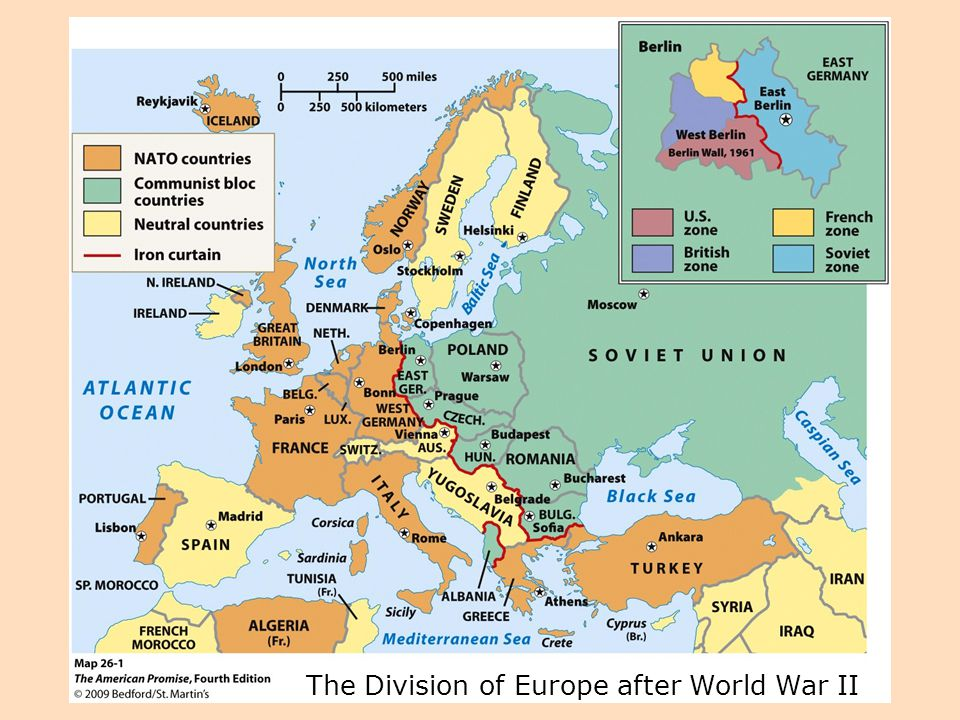 The Division of Europe after World War II