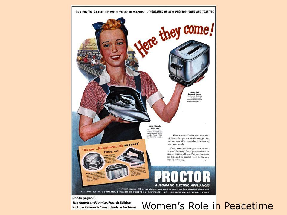 Women's Role in Peacetime