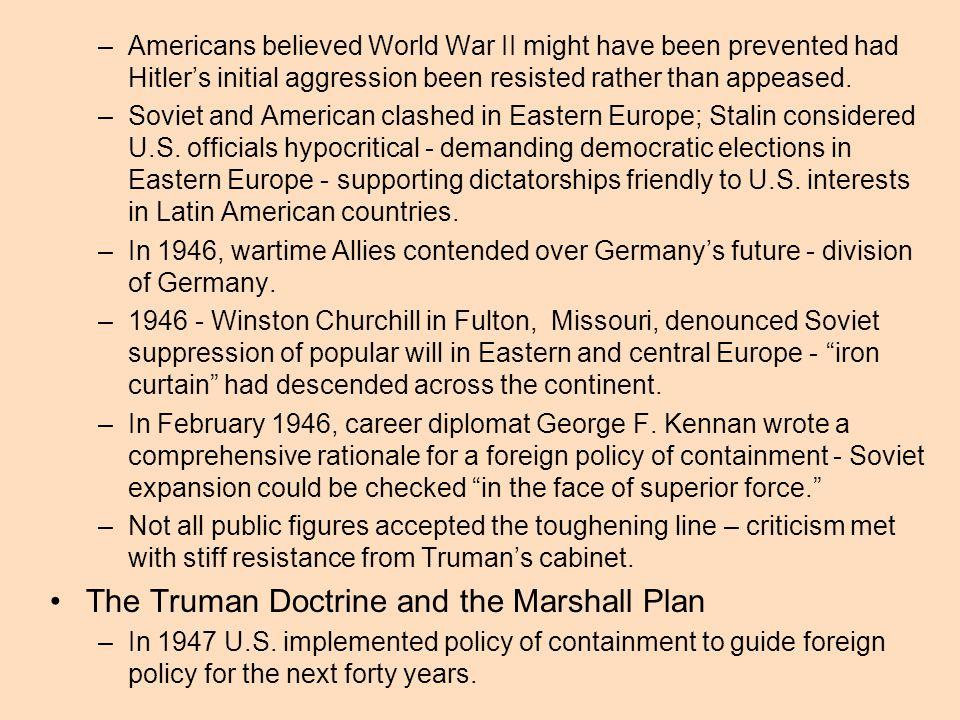 The Truman Doctrine and the Marshall Plan