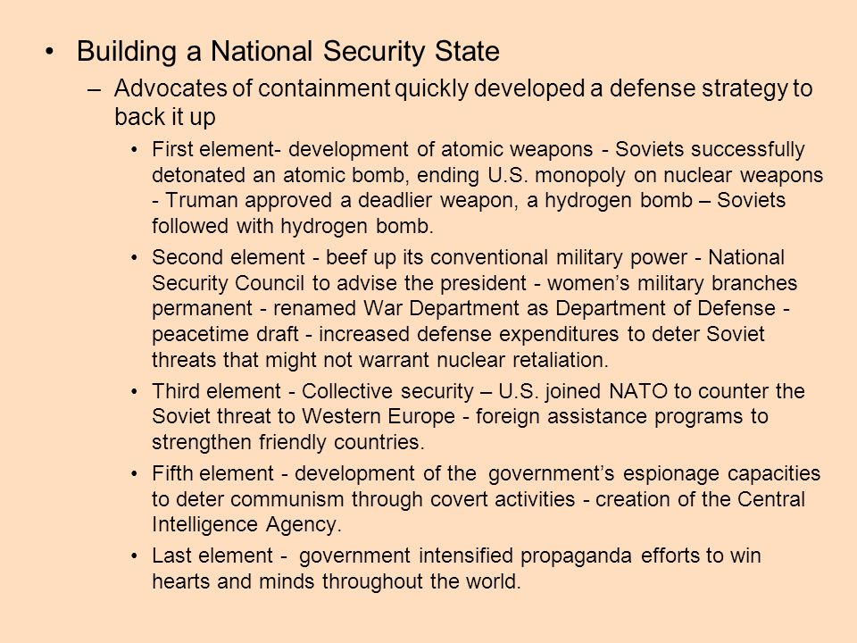 Building a National Security State