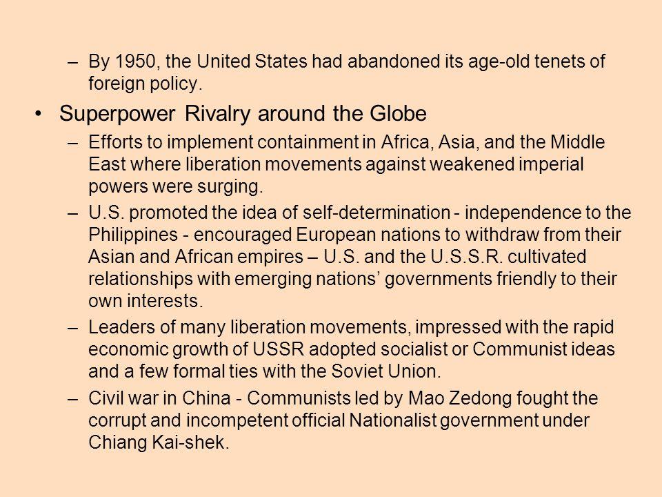 Superpower Rivalry around the Globe