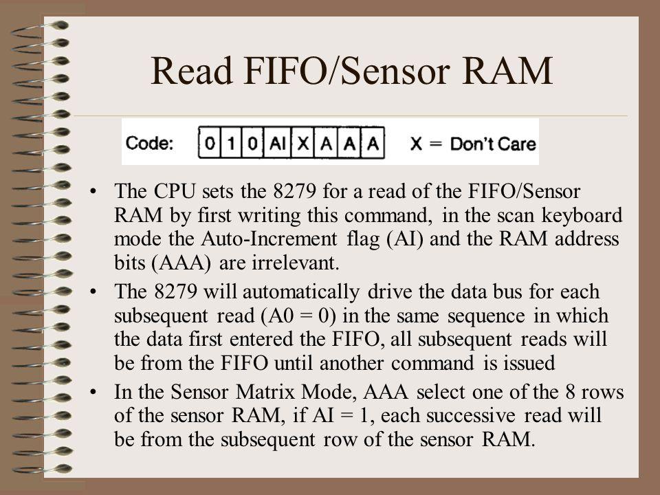 Read FIFO/Sensor RAM