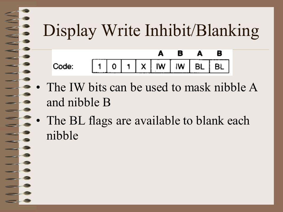 Display Write Inhibit/Blanking