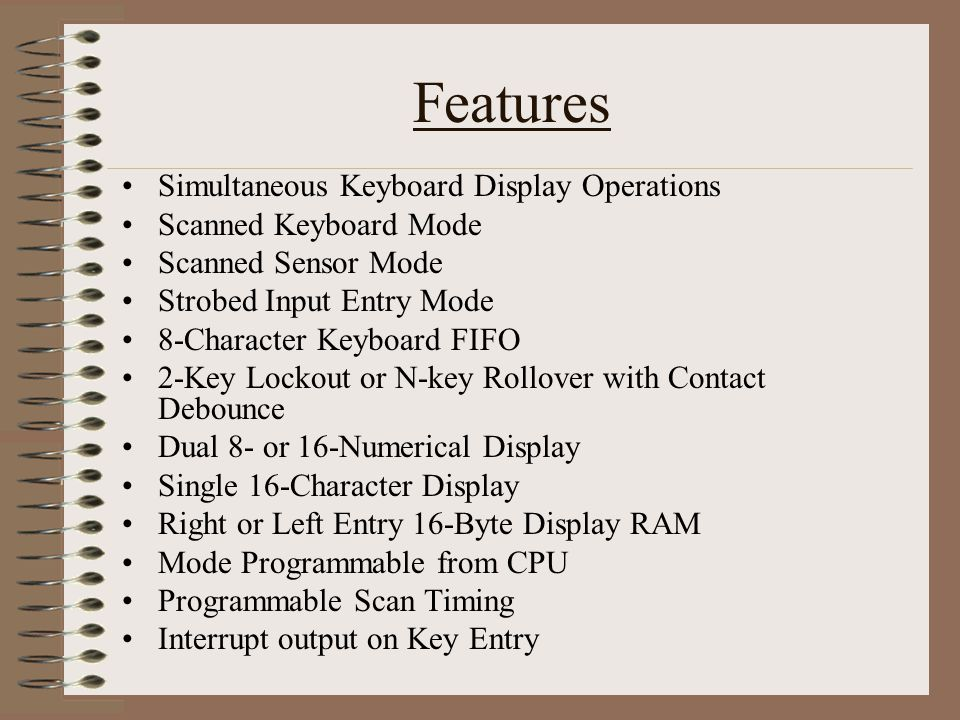 Features Simultaneous Keyboard Display Operations