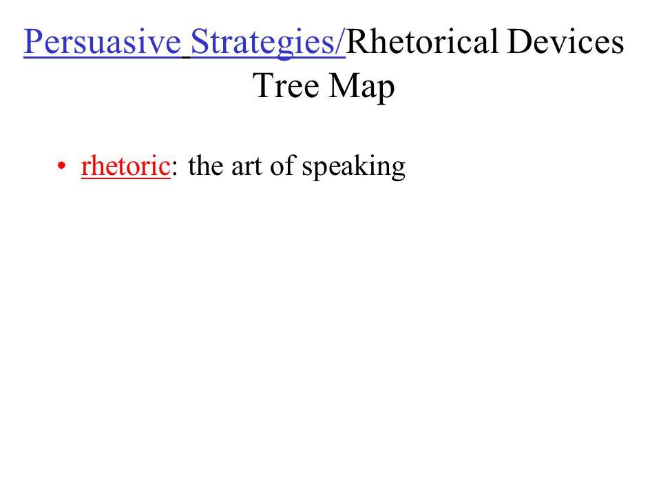 Persuasive Strategies/Rhetorical Devices Tree Map