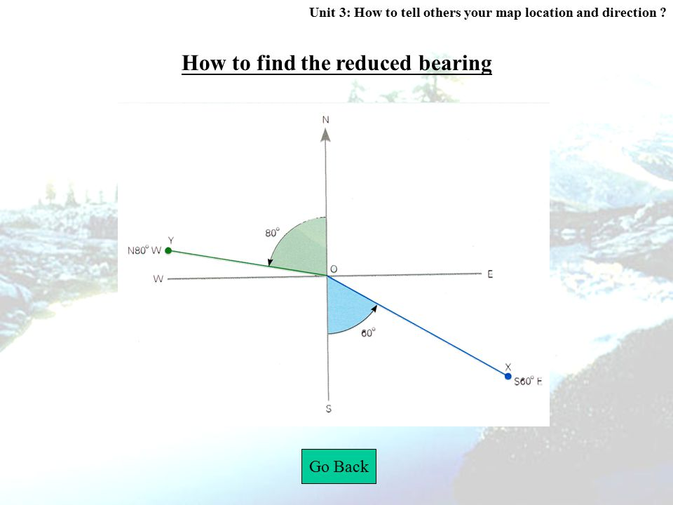 How to find the reduced bearing
