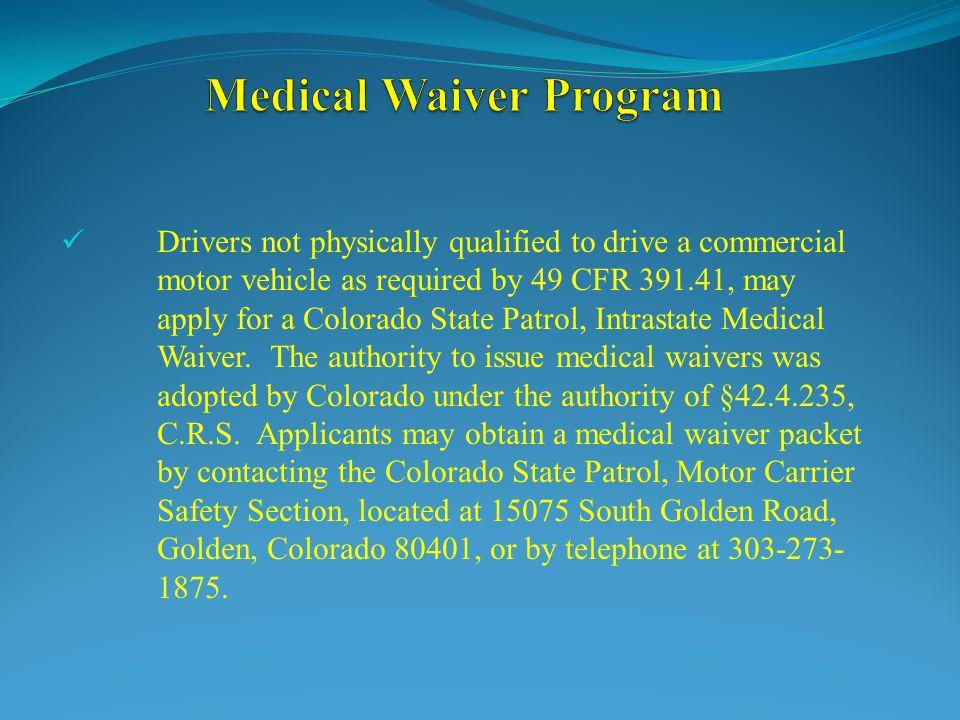 Medical Waiver Program