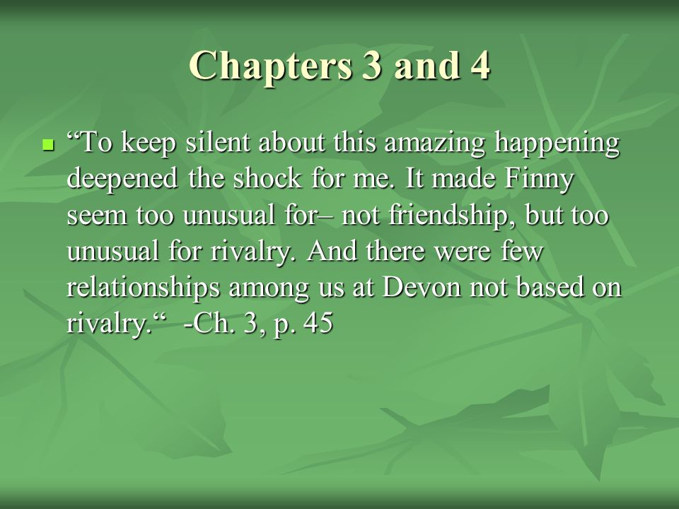 Chapters 3 and 4