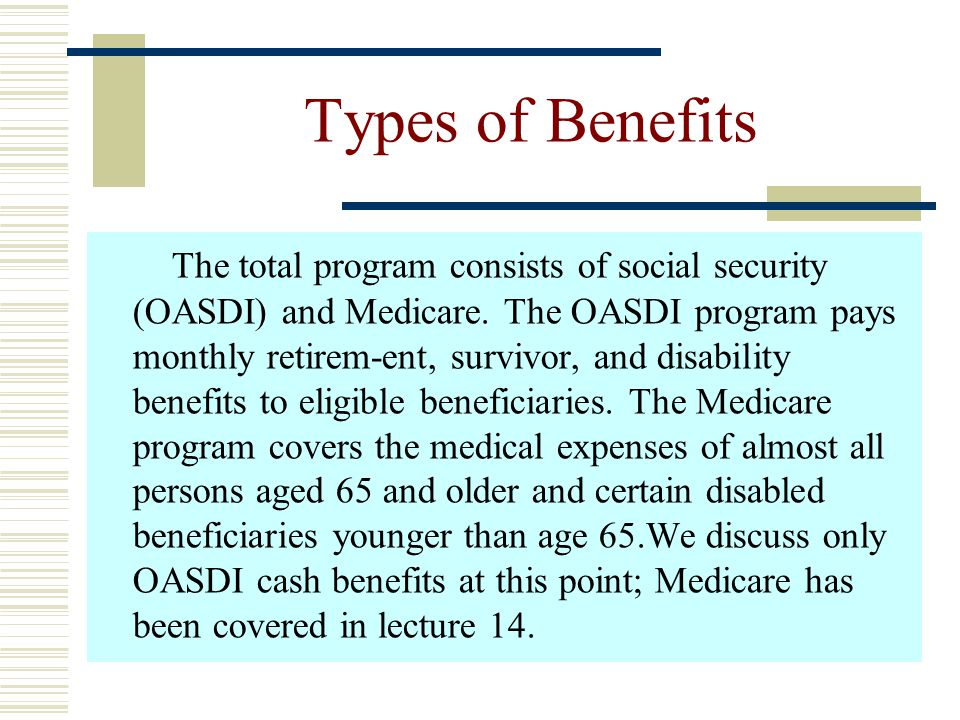 Types of Benefits