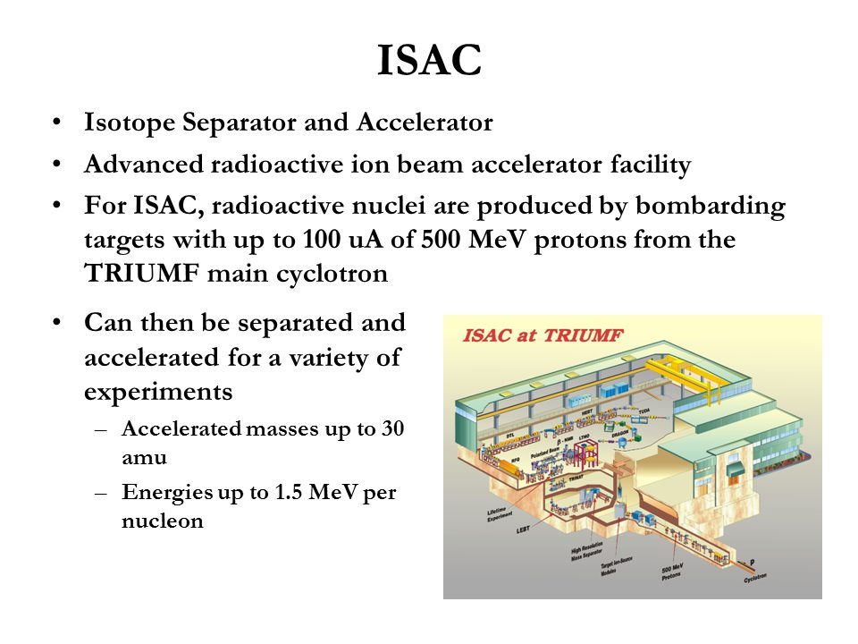 ISAC Isotope Separator and Accelerator