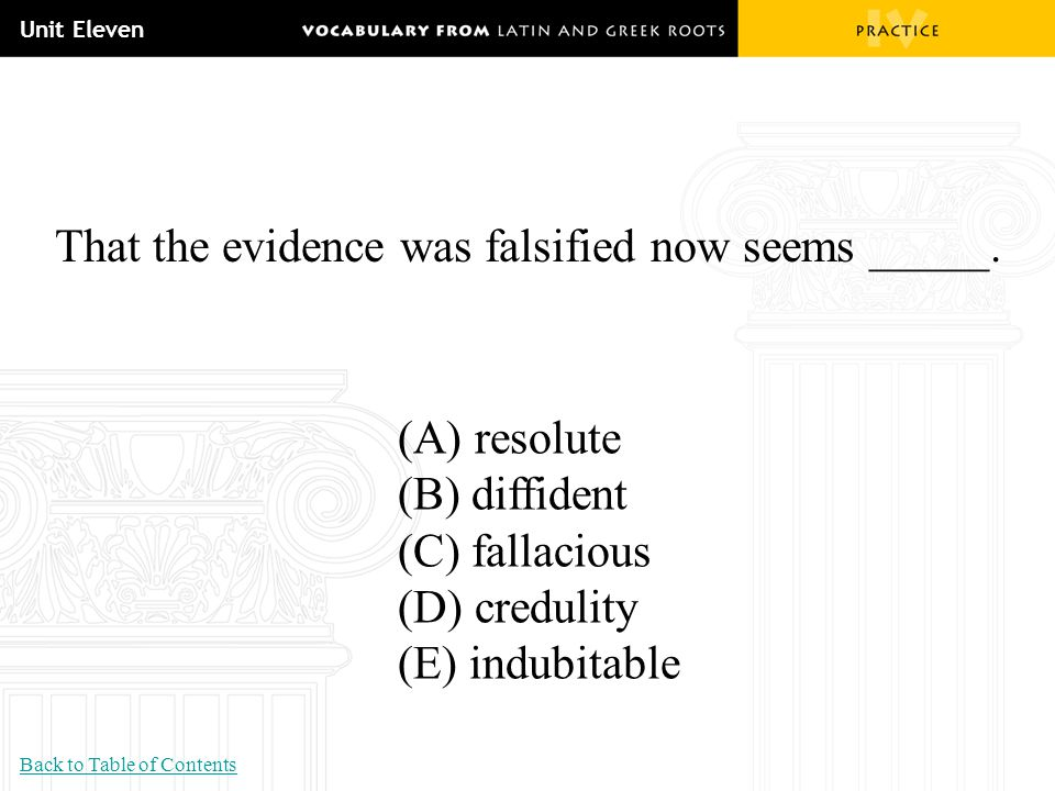 That the evidence was falsified now seems _____.