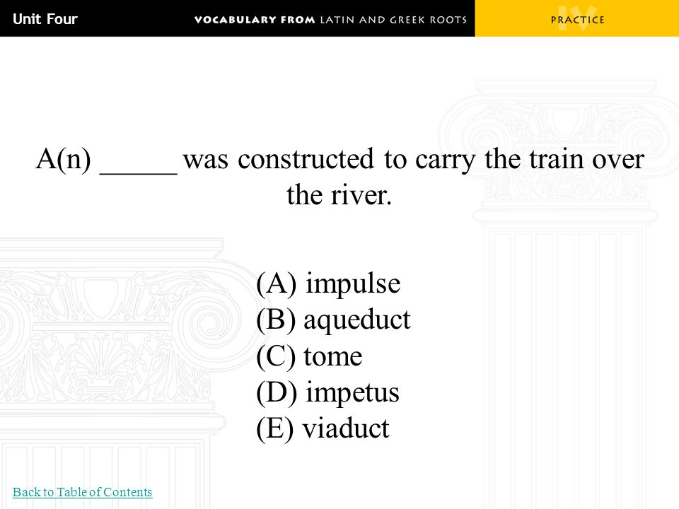 A(n) _____ was constructed to carry the train over the river.