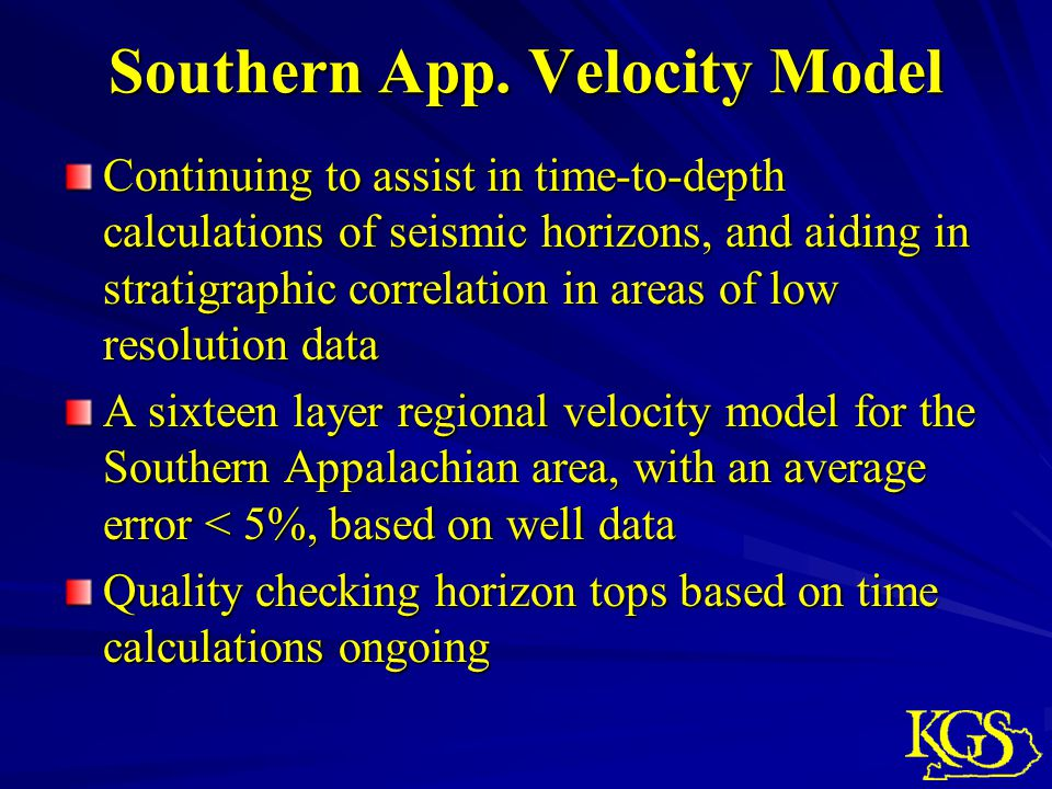 Southern App. Velocity Model