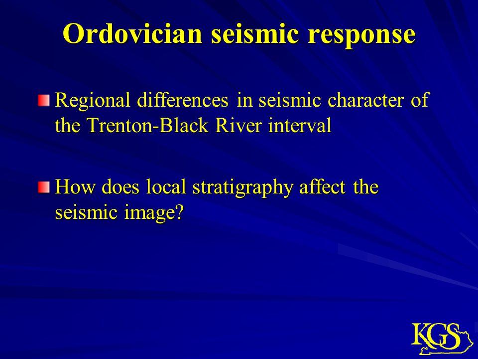 Ordovician seismic response
