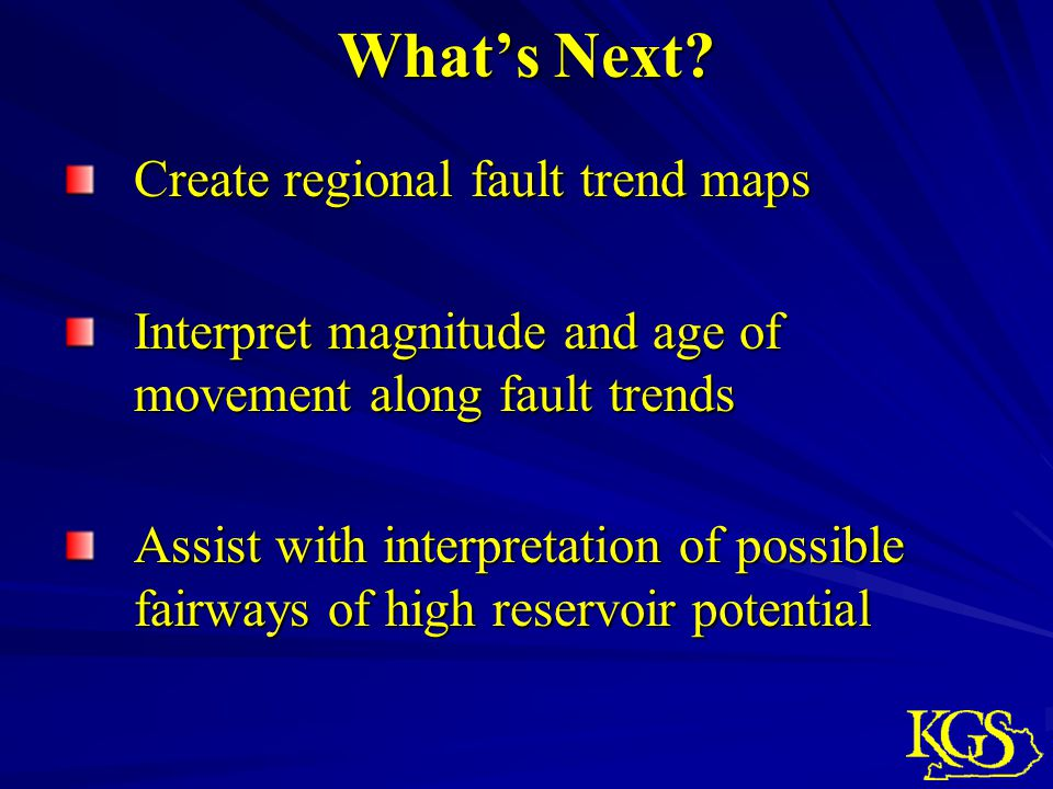 What's Next Create regional fault trend maps