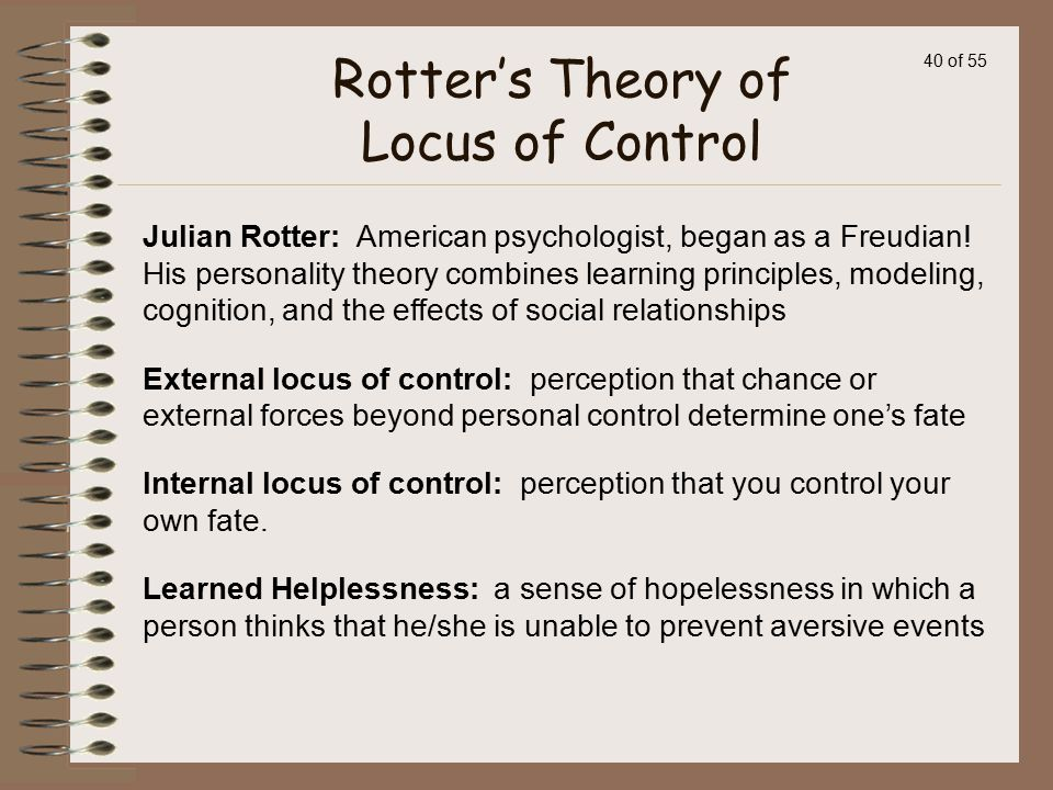Rotter's Theory of Locus of Control
