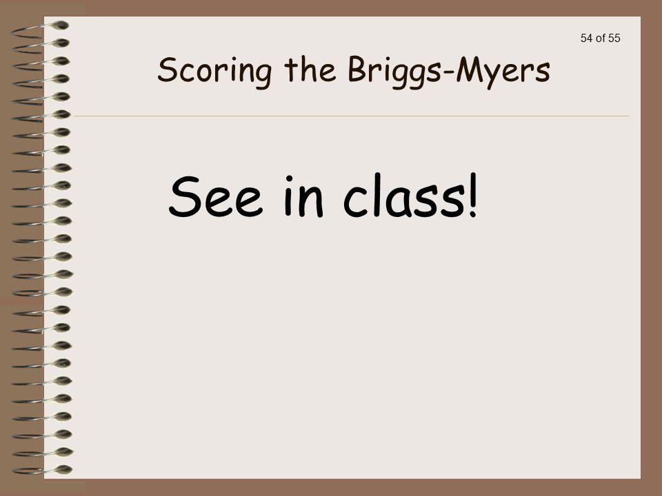Scoring the Briggs-Myers