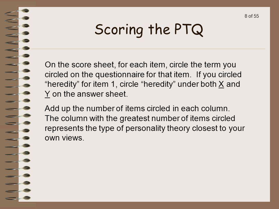 Scoring the PTQ