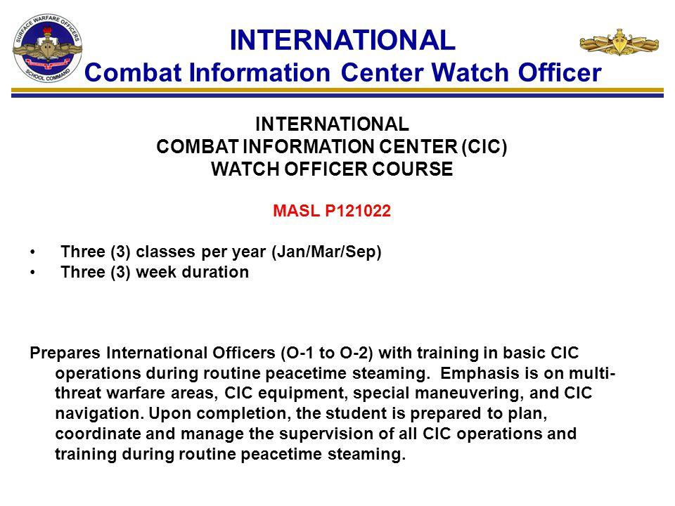 INTERNATIONAL Combat Information Center Watch Officer