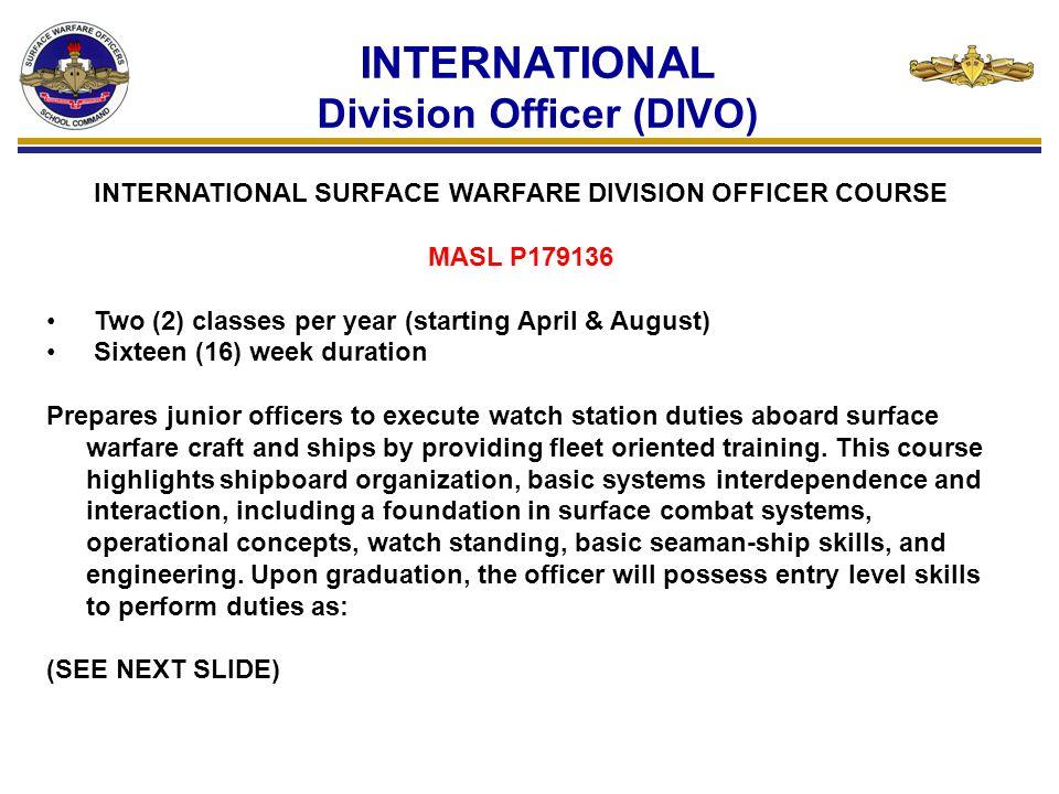 INTERNATIONAL Division Officer (DIVO)