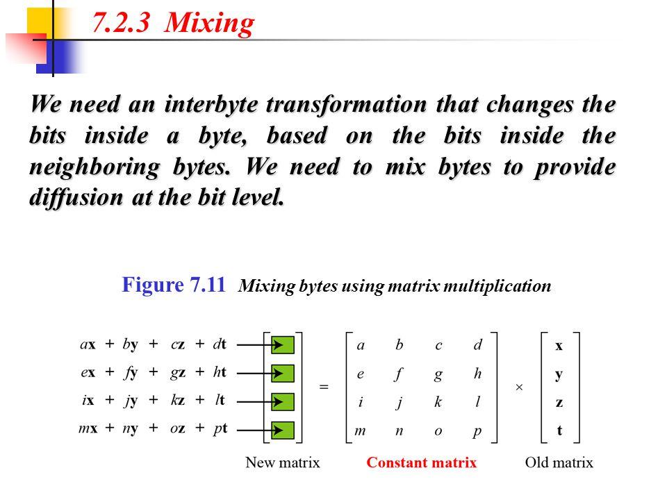 7.2.3 Mixing