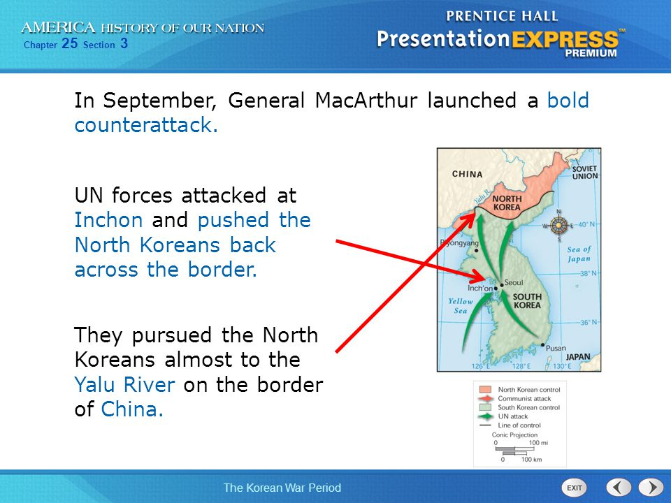 In September, General MacArthur launched a bold counterattack.