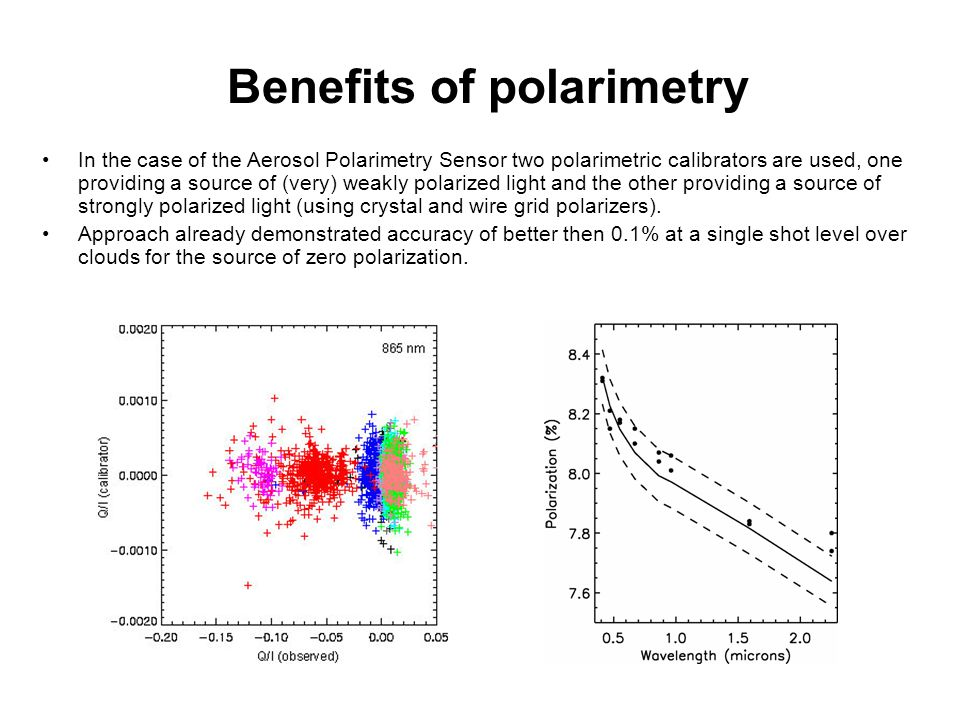Benefits of polarimetry
