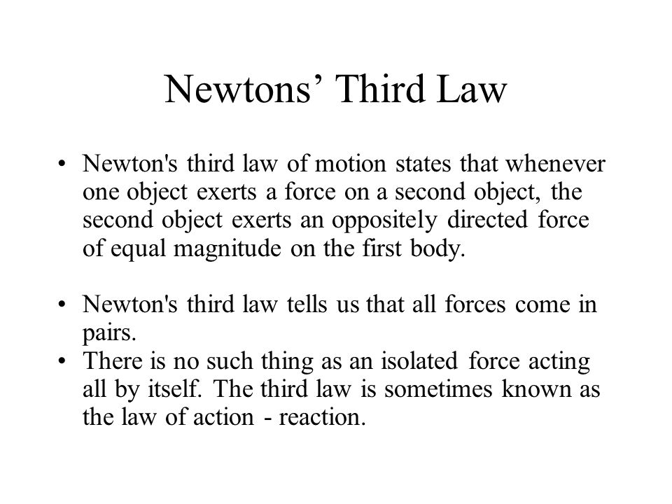Newtons' Third Law
