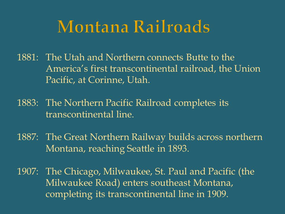 Montana Railroads