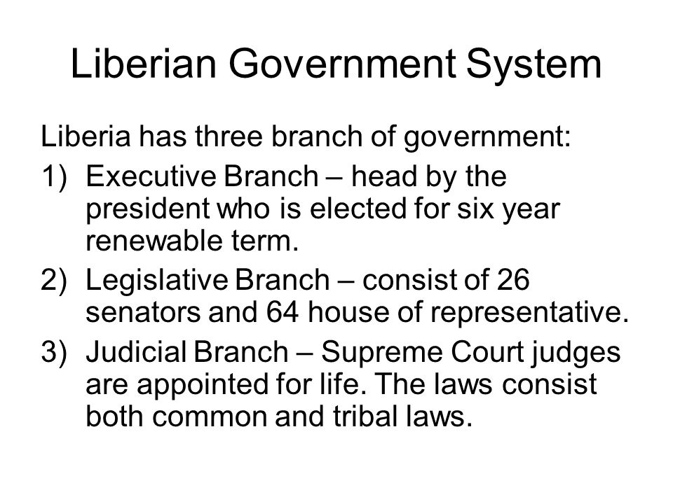 Liberian Government System