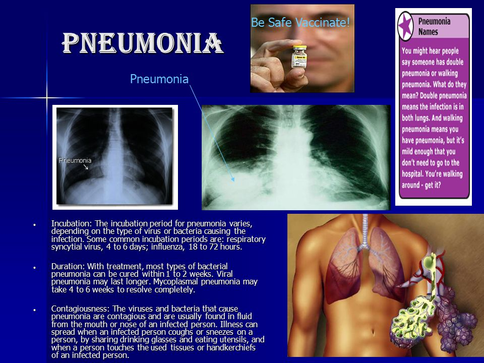 Pneumonia Be Safe Vaccinate! Pneumonia
