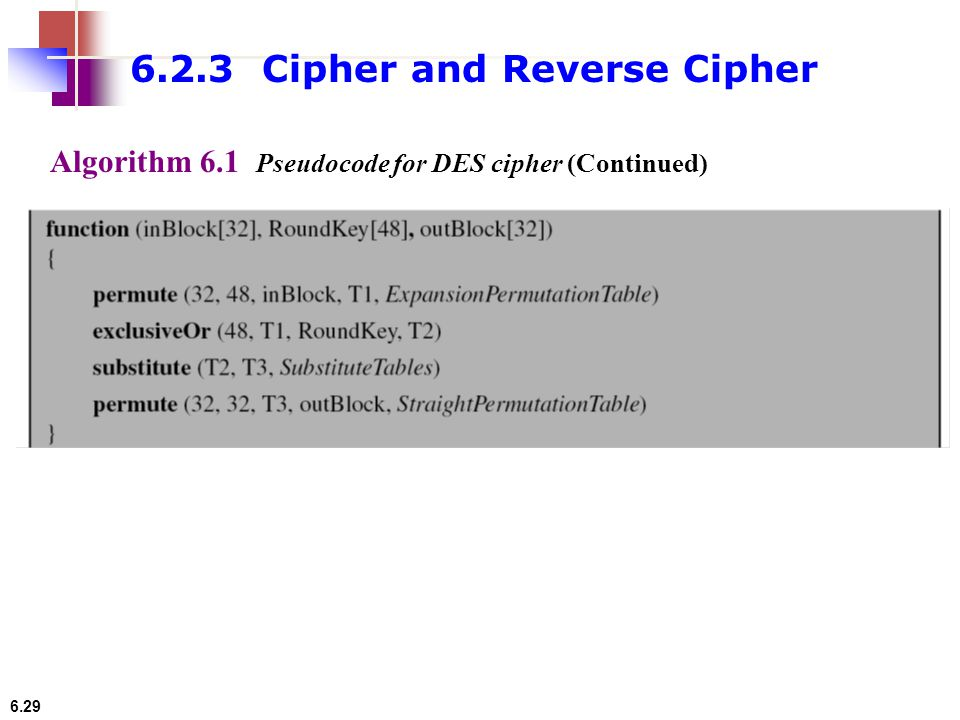 6.2.3 Cipher and Reverse Cipher