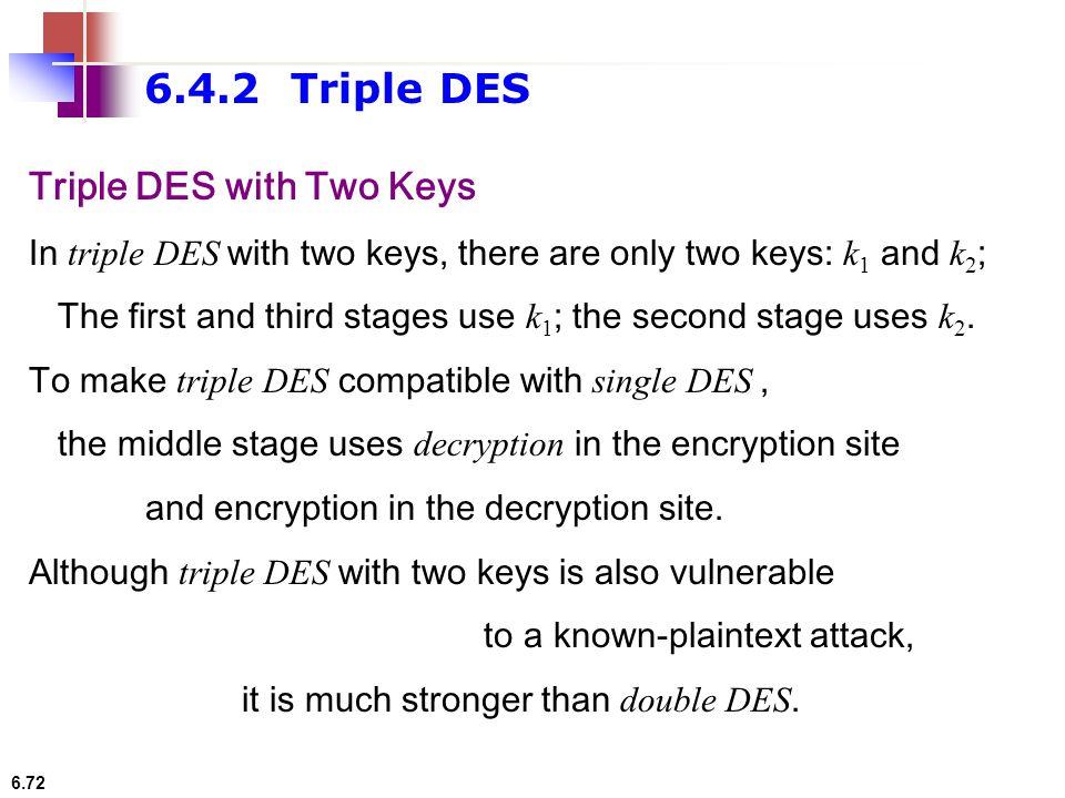6.4.2 Triple DES Triple DES with Two Keys