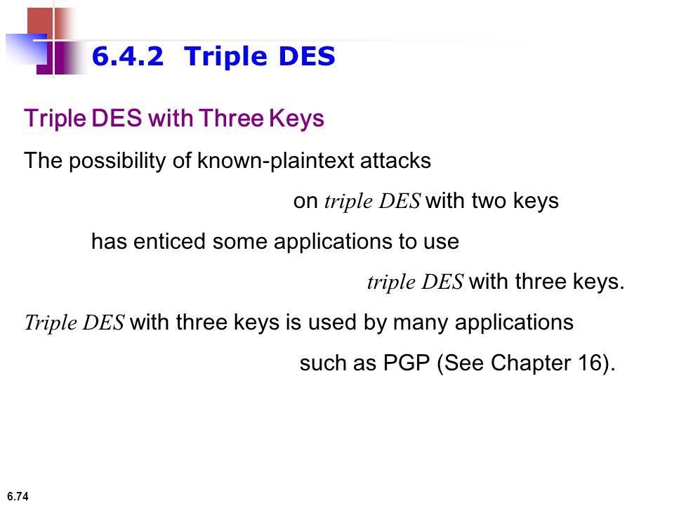 6.4.2 Triple DES Triple DES with Three Keys