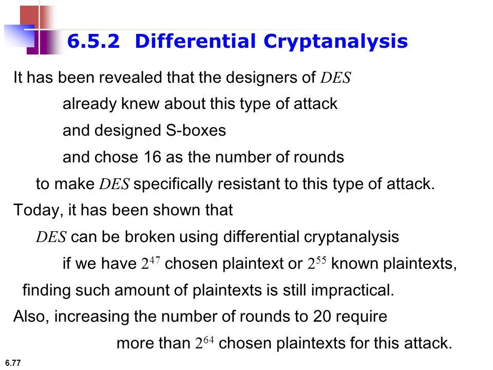 6.5.2 Differential Cryptanalysis